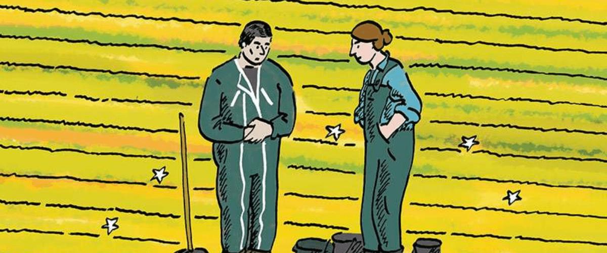 """Revue projet N°383 """"Cultiver l'emploi, PAC ou pas cap"""" (illustration : Philippine Brenac)"""